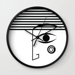 Line face Wall Clock