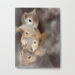 We're all a little squirrelly - woodland series Metal Print