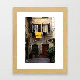 italian stereotypes Framed Art Print