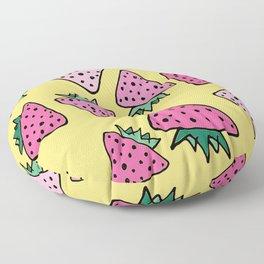 strawberry yellow Floor Pillow