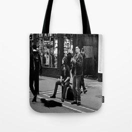 Busking on Grafton Tote Bag