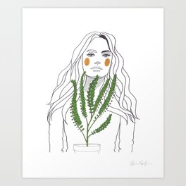Green Time in the Meantime - 2 Art Print