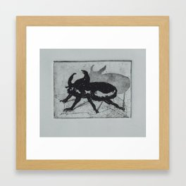 Beetle Intaglio Framed Art Print