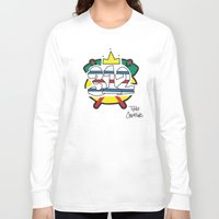 blackhawks Long Sleeve T-shirts featuring Chicago Pride Blackhawks by TyRex Creations