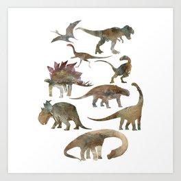 Dinosaurs Creation Art Print