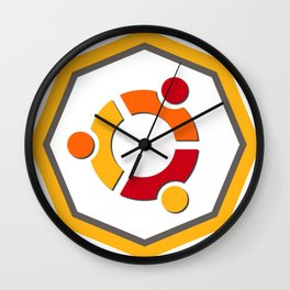 ubuntu apache linux operating  system  stickers Wall Clock