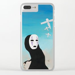 No Face & Paper Birds Clear iPhone Case