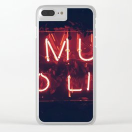 No Music No life Clear iPhone Case