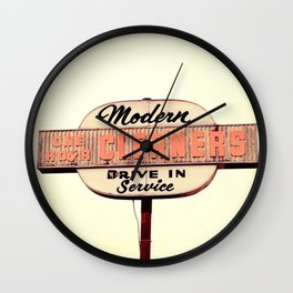 Modern Cleaners Wall Clock