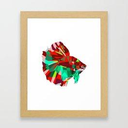 Betta fish Geometric artwork Framed Art Print