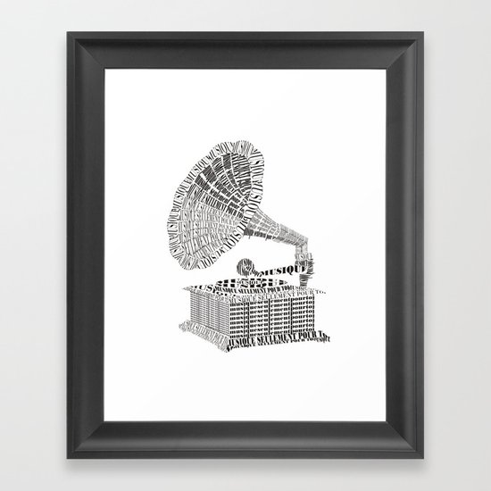 Music just for you Framed Art Print