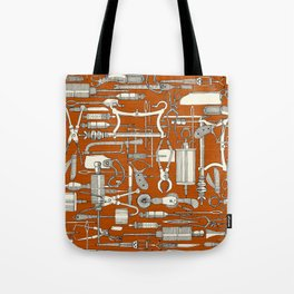 fiendish incisions rust Tote Bag