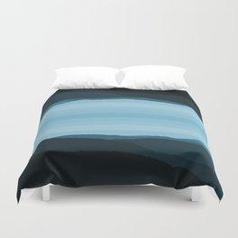 Blue Mountainscape Duvet Cover