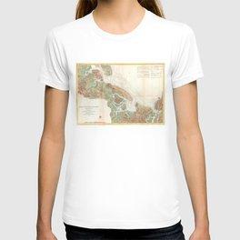 Vintage Map of Ipswich and Annisquam Harbor (1857) T-shirt