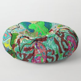 Sea Horse Volcano 2 Floor Pillow