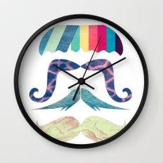 mustache BOOM Wall Clock