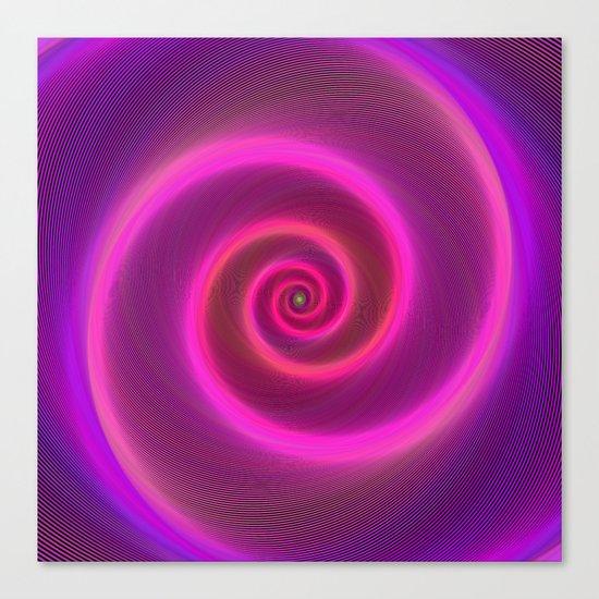 Neon spiral Canvas Print