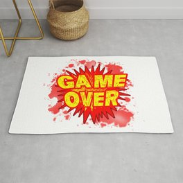 Game Over Cartoon Comic Explosion Rug