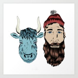 Paul and Babe Art Print