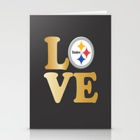 pittsburgh Stationery Cards featuring Pittsburgh Steelers_Love by Doodles & Designs by NK