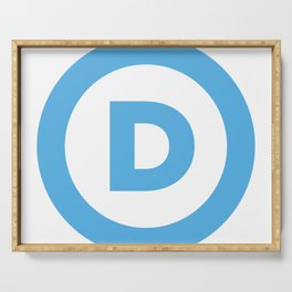 Democratic Party Logo Serving Tray