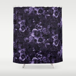 Moody florals purple by Odette Lager Shower Curtain
