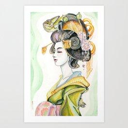 Chameleon Oiran Art Print