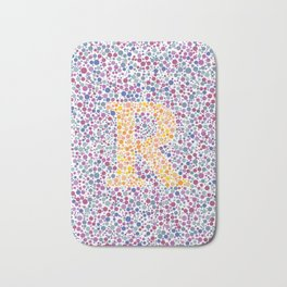 """R"" Eye Test Full Bath Mat"