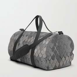 Mermaid Scales Silver Gray Glam #1 #shiny #decor #art #society6 Duffle Bag
