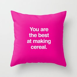 Making Cereal Throw Pillow