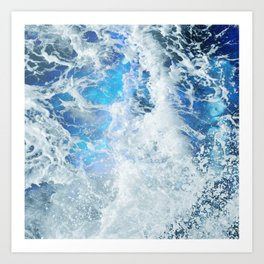 Blue Ocean Glow Art Print
