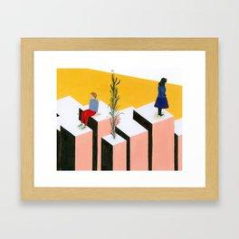ovest / est Framed Art Print