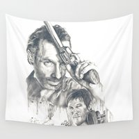 the walking dead Wall Tapestries featuring Walking Dead by Heather Andrewski