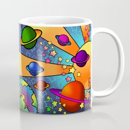 spacey groovy, peter max inspired Coffee Mug