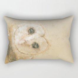 The Barn Owl - Aquarelle Style Rectangular Pillow