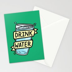 Drink Water Stationery Cards
