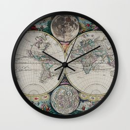 Atlas Maritimus - Vintage World Map Wall Clock