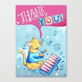 Keyboard Cat Says Thank You Canvas Print