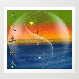 Feng Shui five elements Art Print
