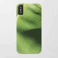 banana leaf iPhone & iPod Cases featuring Banana Leaf by Glenn Designs