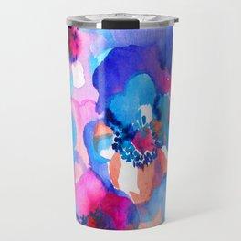 Watercolor floral arrangement. Travel Mug