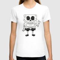 spongebob T-shirts featuring Spongebob Skull by Zhi-Yun