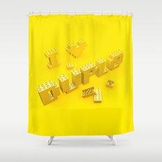 I Love Duplo Shower Curtain
