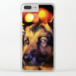 A German Shepherd. (Painting) Clear iPhone Case