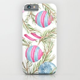 Cruelty Free Christmas Tree  with Glass Ornaments iPhone Case