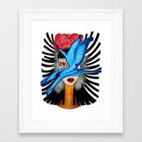 goddess Framed Art Prints featuring Goddess by Miss Midnight