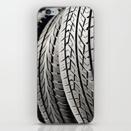 used black tires in row iPhone Skin