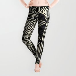 Tribal mud cloth pattern Leggings