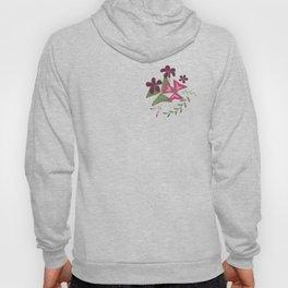 Shamrock Floral Layered Pattern / Purple Hoody