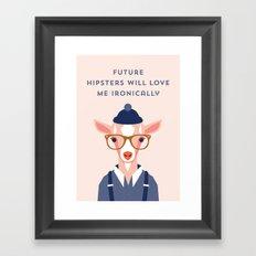 Hipster Harry Framed Art Print